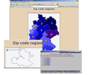 Screenshot meines Imagemap Tests